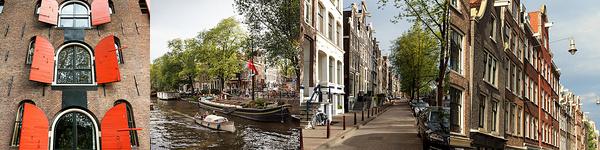 Die Hauptstadt und einwohnerstärkste Stadt der Niederlande.