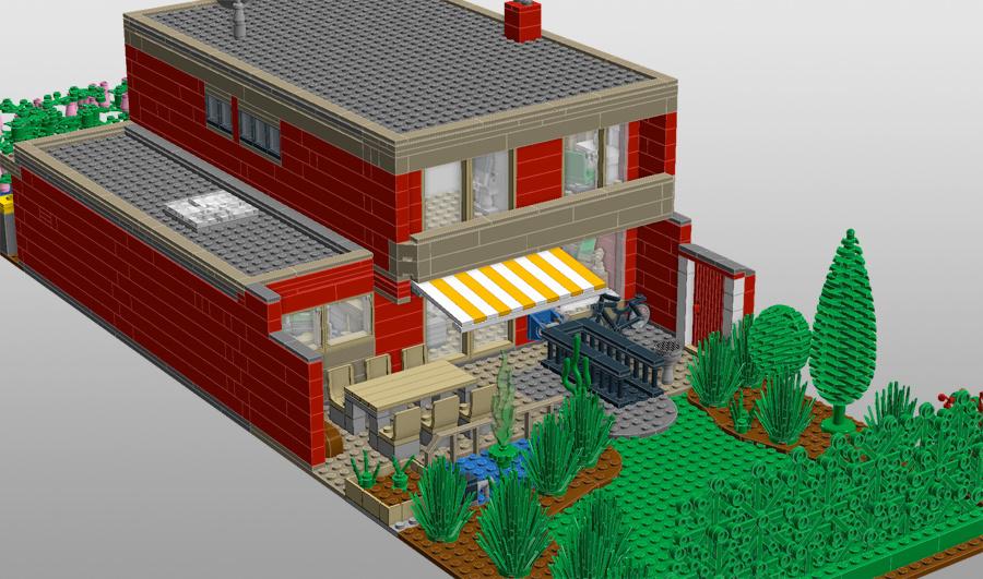 Lego haus kinderclub for Modernes lego haus
