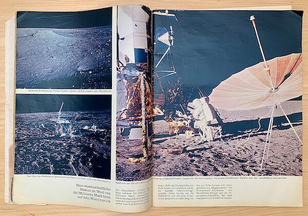 Farbige Bilder von Apollo 12 im Stern 50/1969