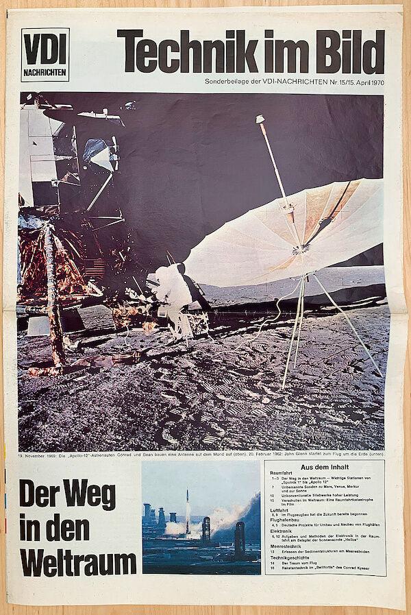 """Sonderbeilage der VDI-Nachrichten Ausgabe 15/1970 – """"Der Weg in den Weltraum"""""""