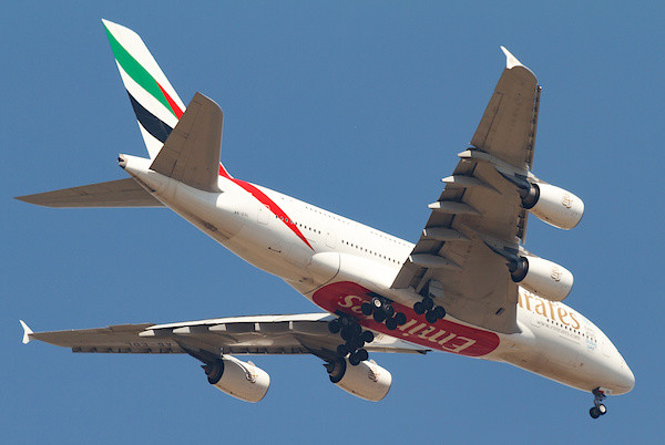 Der A380 im Landeanflug