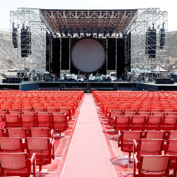 Die noch leere Arena von Verona am Nachmittag