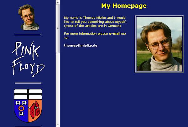 www.mielke.de im Jahr 1999