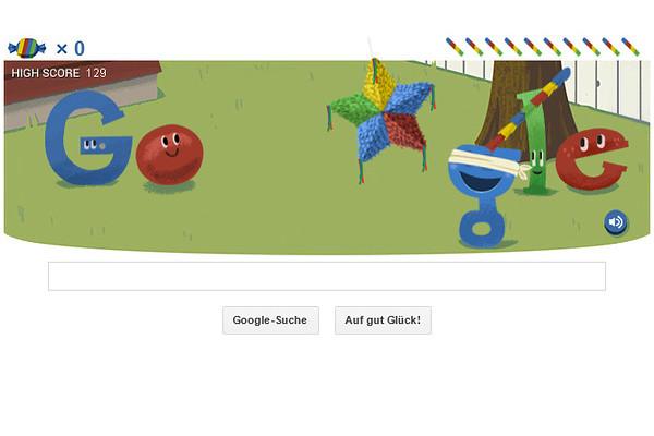 Das Google Doodle zum 15. Geburtstag