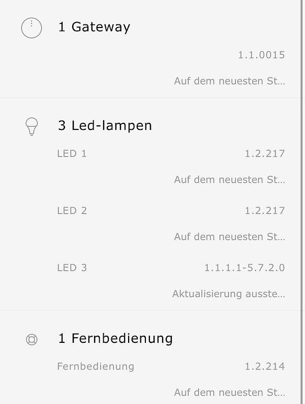 Updates für die TRÅDFRI LEDs