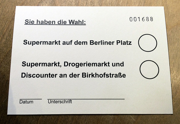 Die Stimmkarte