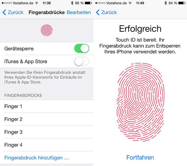 Touch ID – Der Fingerabdruck-Scanner