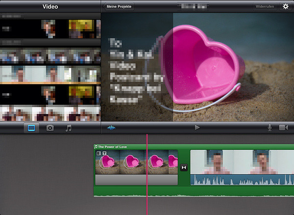 iMovie Bearbeitungsmaske
