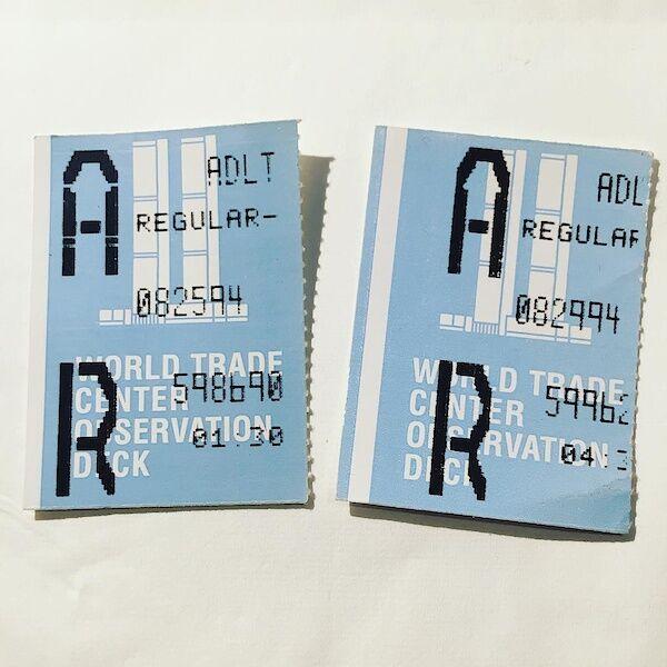 Meine Tickets für das World Trade Center Observation Deck im August 1994