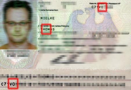 Reisepass: 0 oder O?