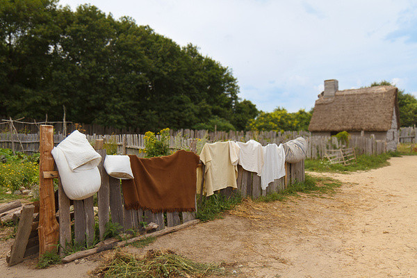 Wäsche, Plimoth Plantation