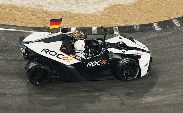 Sebastian Vettel im KTM X-Bow