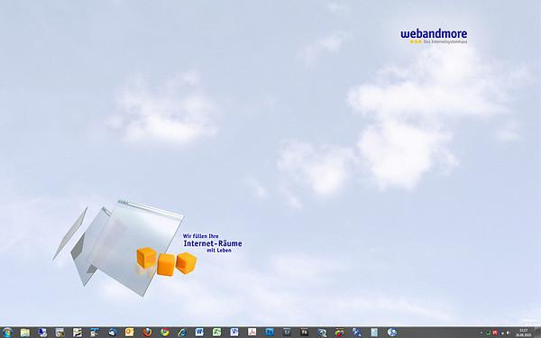 Mein Desktop auf Monitor 1