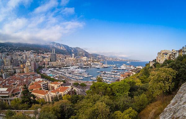 Blick auf den Hafen von Monaco