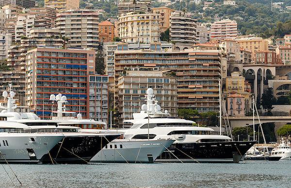 Yachten im Hafen von Monaco
