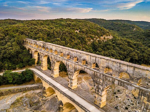 Der Pont du Gard aus der Luft