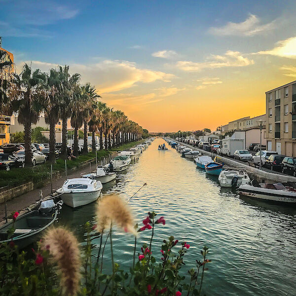 Ein Kanal in Palavas-les-Flots