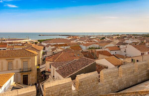 Ausblick vom Dach der Kirche von Saintes-Maries-de-la-Mer