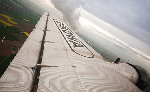 Blick aus dem Fenster | Ju 52