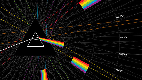 Screenshot: iTunes LP - The Dark Side of the Moon (Deluxe Experience Version)