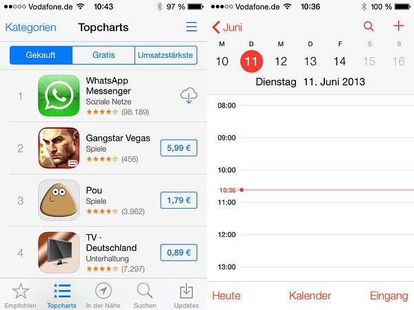 AppStore und Kalender