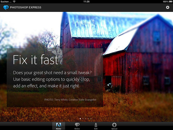 Adobe Photoshop Express f�r iPhone und iPad