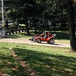 """Dreharbeiten zu """"Stirb langsam 3"""" im Central Park 1994"""