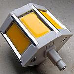 Umrüstung und Umbau einer Wandleuchte mit R7s-Halogenstab auf LED-Technik
