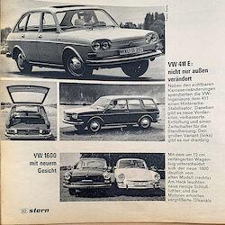 Bericht über den VW 411 E und den VW 1600