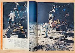 """Untertitel im Stern 33/1969: """"Zum erstenmal Menschen auf dem Mond"""""""