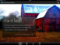 Adobe Photoshop Express auf dem iPad