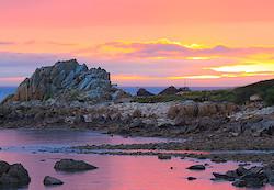 Sonnenuntergang in Trégastel/Pointe de Primel
