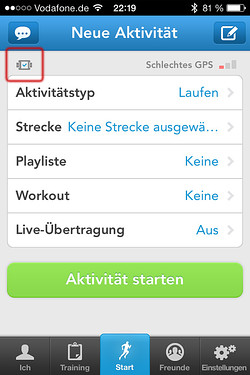 RunKeeper mit Pebble Integration
