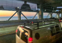 Im Bus auf der Verrazzano-Narrows Bridge