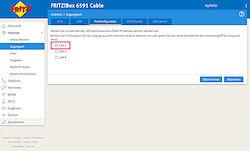 Portkonfiguration für eine Public IP-Adresse