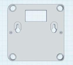 Mein Entwurf der Wandhalterung in Tinkercad
