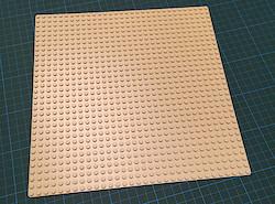 Die Sandfarbene Grundplatte