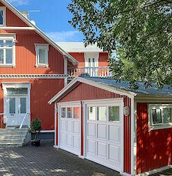 Ein typisches Wellblech-Haus in Reykjavík