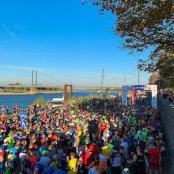 Der Startbereich des Rhein-City-Run
