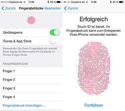 Touch ID – Der Fingerabdruck-Scanner