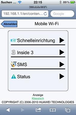 Huawei Konfiguration