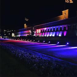 Das illuminierte NRW-Forum