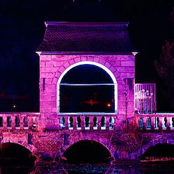 Die Barockbrücke in Rosa
