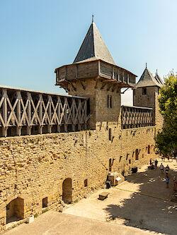 Die Wehranlagen in der Cité von Carcassonne