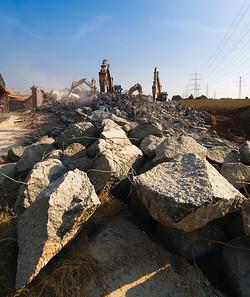 Die Überreste | Abriss Autobahnbrücke A57