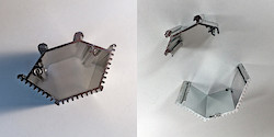 Aluminium-Gehäuse vorher (links) und nachher (rechts)