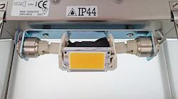 Der fertige Umbau der LED in der Wandleuchte ausgeschaltet...