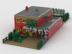Straßenansicht (gerendert mit BrickLink-Studio 2.0)