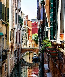 Ein typischer Kanal in Venedig