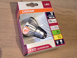 Dimmbare OSRAM LED Superstar GU10 mit 385 Lumen